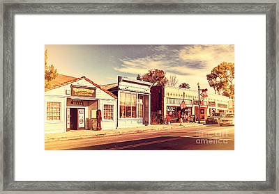 Historic Niles District In California Near Fremont . Main Street . Niles Boulevard . 7d10676 Framed Print by Wingsdomain Art and Photography