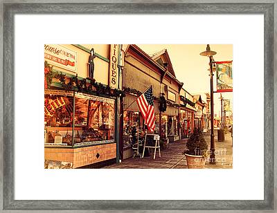 Historic Niles District In California Near Fremont . Main Street . Niles Boulevard . 7d10701 Framed Print