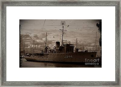 Framed Print featuring the photograph Hmas Castlemaine 2 by Blair Stuart
