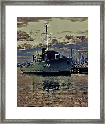 Framed Print featuring the photograph Hmas Castlemaine 3 by Blair Stuart