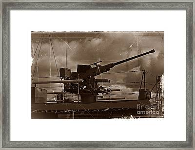 Framed Print featuring the photograph Hmas Castlemaine 5 by Blair Stuart