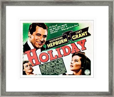 Holiday, Cary Grant, Katharine Hepburn Framed Print