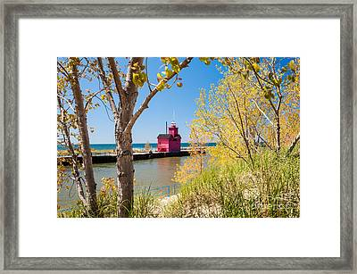 Holland Mi Lighthouse Framed Print