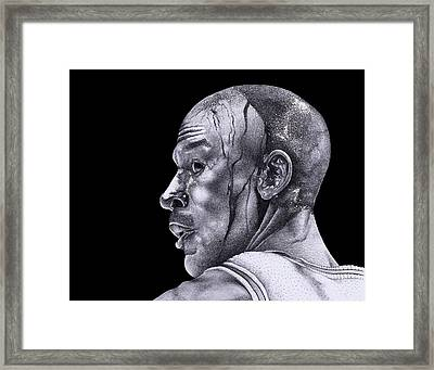 Homage To Jordan Framed Print by Lee Appleby