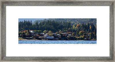 Framed Print featuring the photograph Home Sweet Kaslo by Cathie Douglas