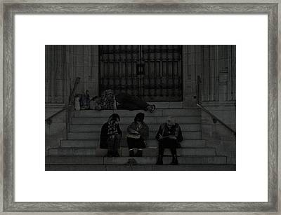 Homeless In The Big Apple Framed Print by Snow  White