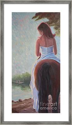 Framed Print featuring the photograph Honeymoon Ride by Gretchen Allen