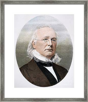 Horace Greeley (1811-1872) Framed Print by Granger