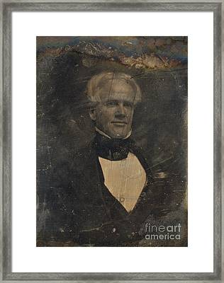 Horace Mann, American Education Reformer Framed Print by Photo Researchers