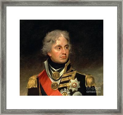 Horatio Viscount Nelson Framed Print
