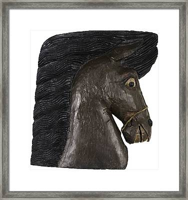 Framed Print featuring the painting Horse Head by Unsigned