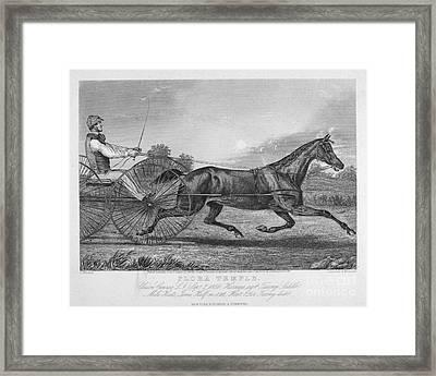 Horse Racing, 1857 Framed Print by Granger