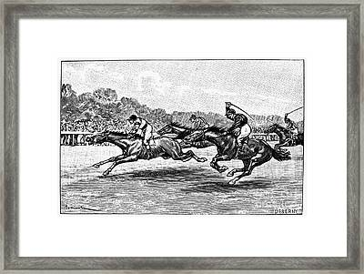 Horse Racing, 1900 Framed Print by Granger