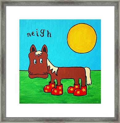 Framed Print featuring the painting Horse by Sheep McTavish