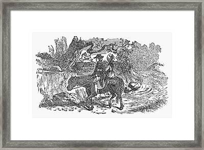 Horseback Riding Framed Print by Granger