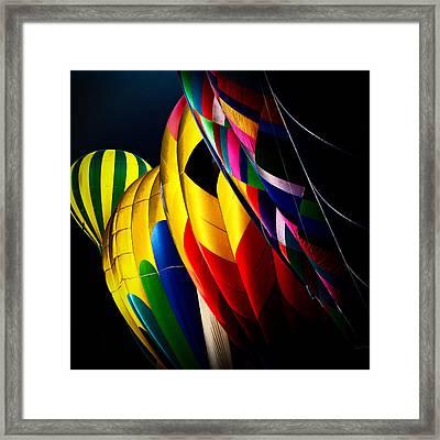 Hot Air Balloons Framed Print by David Patterson