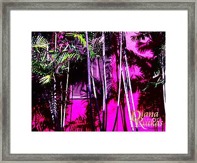 Framed Print featuring the photograph Hot Caribbean Day by Diana Riukas