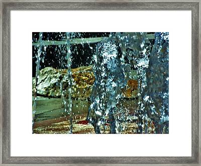 Hot Ice Framed Print by Judith  Horn