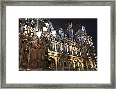 Hotel De Ville In Paris Framed Print