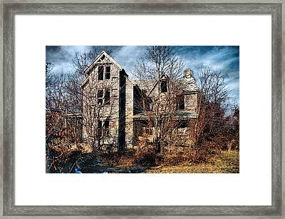House In Ruins Framed Print