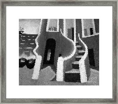 House Of Slaves - Goree Framed Print by Fania Simon