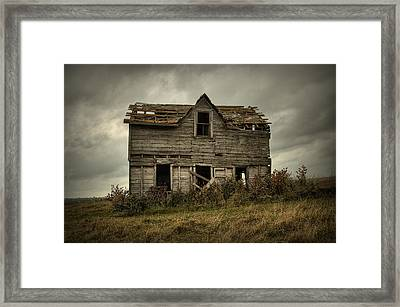 House On The Hill Framed Print by Heather  Rivet