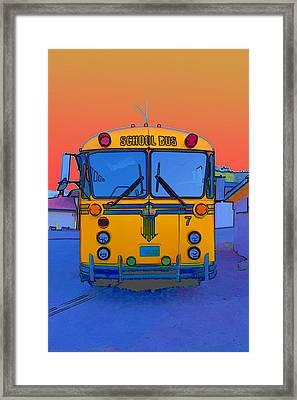 Hoverbus Framed Print
