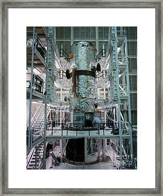Hubble Space Telescope Framed Print by NASA/Science Source
