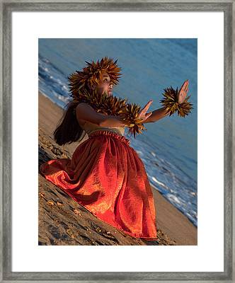 Hula Girl Framed Print by James Roemmling