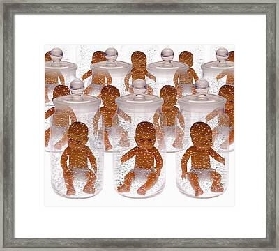 Human Cloning Framed Print by Victor De Schwanberg