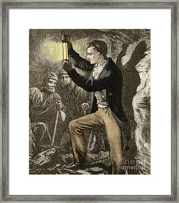 Humphry Davy, English Chemist Framed Print by Science Source