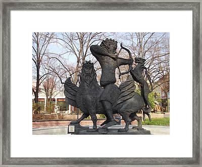 Hunting Scene Framed Print by Zlatan Stoilov