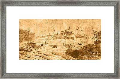 Hurricane, 1815 Framed Print by Science Source