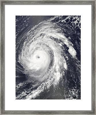 Hurricane Bill In The Atlantic Ocean Framed Print