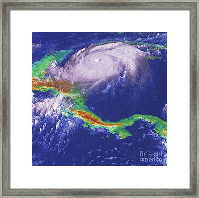 Hurricane Mitch Framed Print by NASA / Goddard Space Flight Center