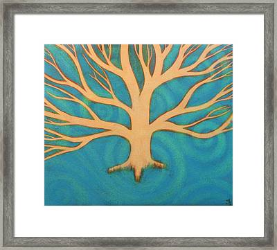 Framed Print featuring the painting Ice by Monica Furlow