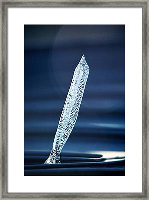 Icicle In Reverse Framed Print by Christine Till