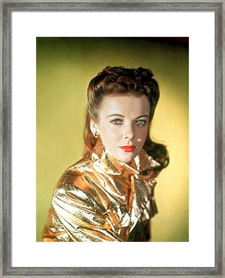 Ida Lupino Framed Print by Everett