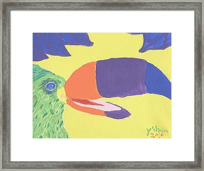 If One Can Toucan Framed Print by Yshua The Painter