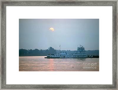 Illinois: Towboat Framed Print