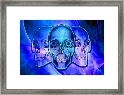 Illuminated Skulls Framed Print