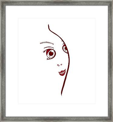 Illustration Of A Fashion Model Framed Print