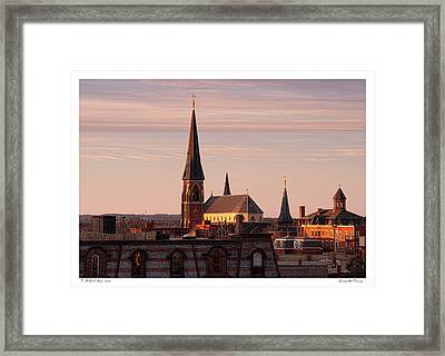 Immaculate Evening Framed Print by Richard Bean