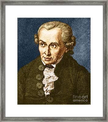 Immanuel Kant, German Philosopher Framed Print