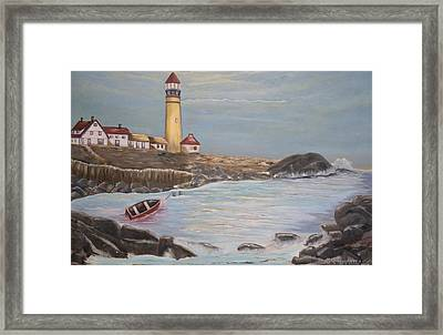 Framed Print featuring the painting In Search Of Portland Maine - Mary Krupa by Bernadette Krupa