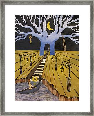 Framed Print featuring the painting In The Maze Of Strange Dreams by Valentina Plishchina