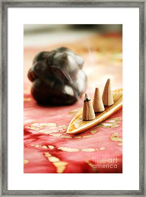 Incense Framed Print by HD Connelly