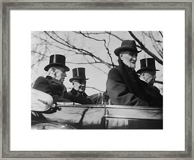 Incoming President Warren G. Harding Framed Print