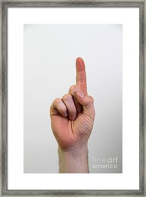 Index Finger Framed Print by Photo Researchers, Inc.