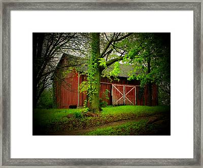 Indiana Barn Framed Print by Michael L Kimble